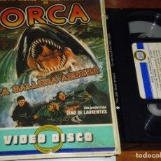 Cine: ORCA , LA BALLENA ASESINA . EDICION VIDEODISCO - VHS. Lote 151488230
