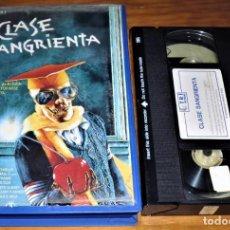 Cine: CLASE SANGRIENTA . TERROR - VHS. Lote 151501402