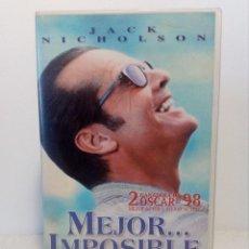 Cine: VHS MEJOR IMPOSIBLE DE JAMES L. BROOKS (JACK NICHOLSON) 1997. Lote 151577918