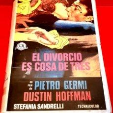 Cinema: EL DIVORCIO ES COSA DE TRES (1972) - ALFREDO, ALFREDO ITA - NUNCA EN TC. Lote 247173710