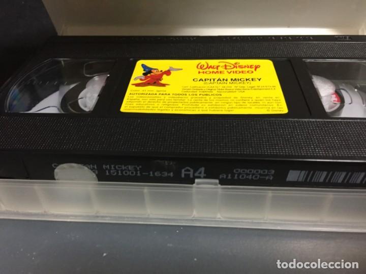 Cine: VHS VIDEO CAPITAN MICKEY WALT DISNEY MICKEY MOUSE - Foto 3 - 151677210