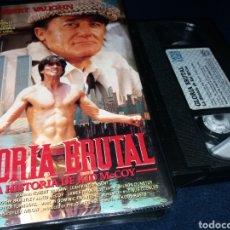 Cine: GLORIA BRUTAL LA HISTORIA DE KID MCCOY- VHS- 1990 ROBERT VAUGHN- BOXEO. Lote 151900296