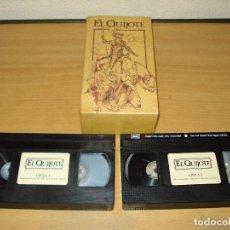 Cine: EL QUIJOTE. EDICIÓN ESPECIAL CENTRAL HISPANO TVE. DOBLE VHS. Lote 152295010