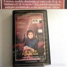 Cine: LA MUJER FLAMBEADA PELÍCULA - GUDRUN LANDGREBE M CARRIERE VAN ACKEREN - PROSTITUTOS PROSTITUCIÓN VHS. Lote 152391990