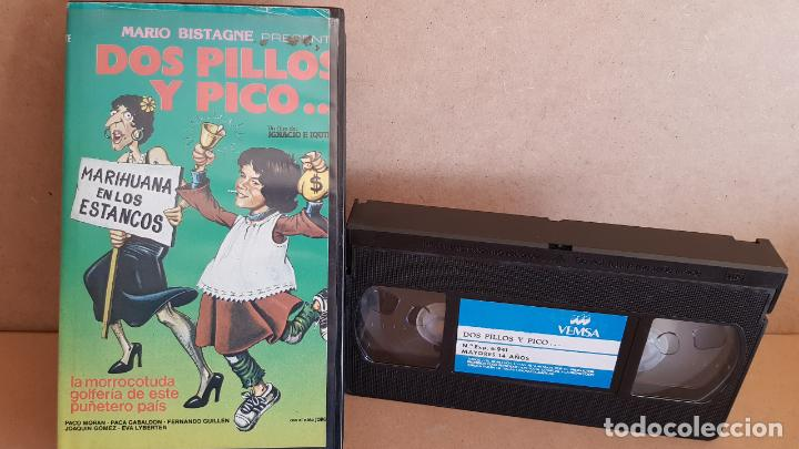DOS PILLOS Y PICO...PACO MORAN - PACA GABALDÓN / VHS DE BUENA CALIDAD. (Cine - Películas - VHS)
