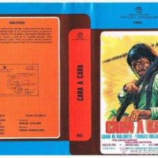 Cine: VHS CARA A CARA - TOMÁS MILIAN - ENNIO MORRICONE. Lote 153198066