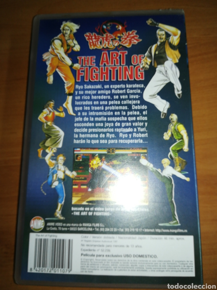 The Art Of Fighting Vhs Manga Anime Buy Vhs Movies At Todocoleccion 153729554