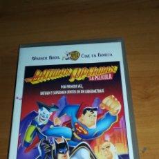 Cine: ATENCIÓN COLECCIONISTAS BATMAN SUPERMAN LA PELÍCULA - LARGOMETRAJE DE DIBUJOS. Lote 153736292