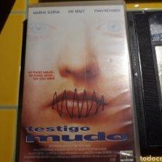 Cine: VHS- TESTIGO MUDO- MARINA SUDINA. Lote 154394358