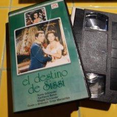 Cine: VHS- EL DESTINO DE SISSI- ROMY SCHNEIDER. Lote 154397109