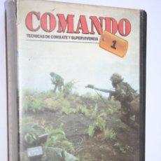 Cine: BOINAS VERDES: COMANDO TECNICAS COMBATE (CAJA VHS) *** NO HAY PELÍCULA *** . Lote 154481134