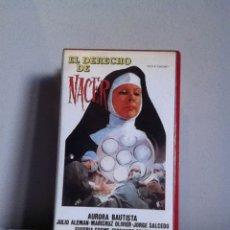 Cine: VHS. EL DERECHO DE NACER. Lote 155329793