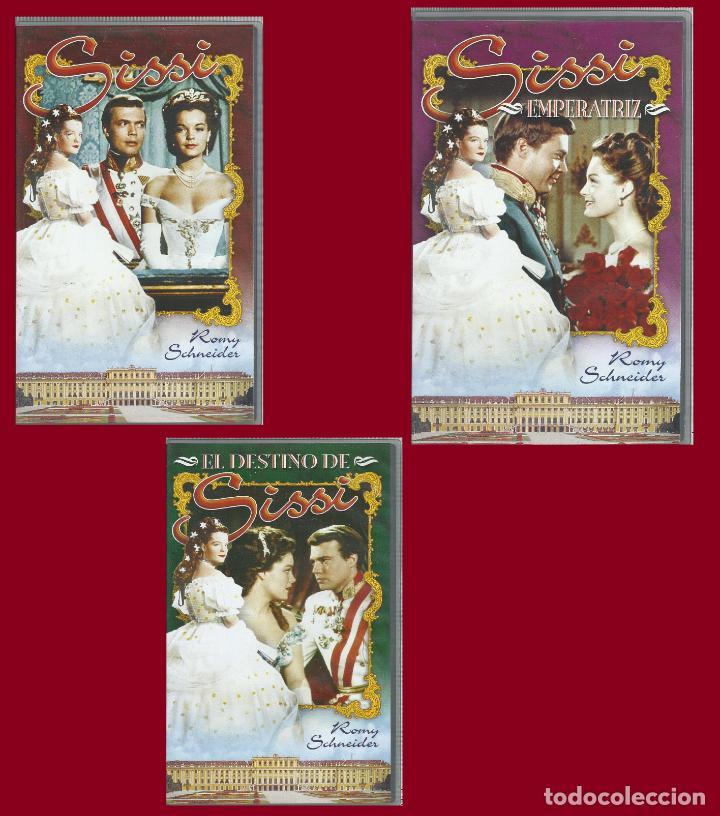 LOTE PELICULAS DE SISSI CON ROMY SCHNEIDER (VHS) SE PUEDE VENDER POR SEPARADO (Cine - Películas - VHS)