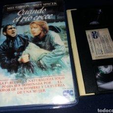 Cine: CUANDO EL RIO CRECE- VHS- MEL GIBSON 1 EDICION. Lote 155927738