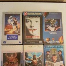 Cine: LOTE 6 PELÍCULAS VHS. Lote 156173122