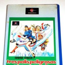 Cine: TRES POLIS PELIGROSOS EN NUEVA YORK (1981) MICHELE MASSIMO TARANTINI EDWIGE FENECH ALVARO VITALI VHS. Lote 156570562
