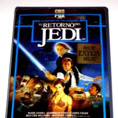 Cine: EL RETORNO DEL JEDI (1983) - RICHARD MARQUAND MARK HAMMILL HARRISON FORD CARRIE FISHER VHS 1ª ED.. Lote 156571182
