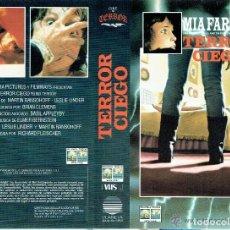 Cine: TERROR CIEGO- VHS- MIA FARROW. Lote 156654074