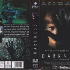 Cine: VHS - DARKNESS - ANNA PAQUIN, LENA OLIN, JAUME BALAGUERÓ - TERROR, SOBRENATURAL, CASAS ENCANTADAS. Lote 156657526