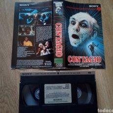 Cine: CONTAGIO VHS RAREZA OCHENTERA TERROR. Lote 158054282