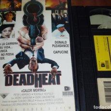Cine: DEADHEAT . CALOR MORTAL . CAPUCINE , DONALD PLEASENCE - VHS - PEDIDO MINIMO 6 EUROS. Lote 158447858
