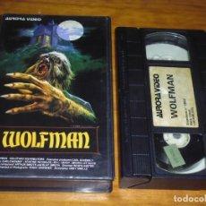 Cine: WOLFMAN . TERROR - VHS AURORA VIDEO . UNICA EN TC. Lote 159397898