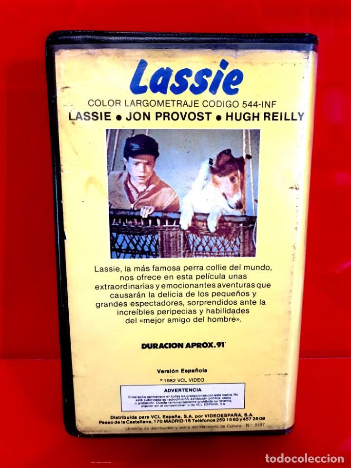 Cine: LASSIE (1982)- Jon Provost, Hugh Reilly - 1ª EDICIÓN VIDEOESPAÑA - Foto 2 - 159591706