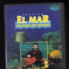 Cine: EL MAR, ACUARIO DEL MUNDO (CINTA VHS) - DURACIÓN: 30 MINUTOS -. Lote 159657618