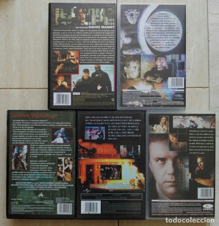 Cine: LOTE 5 VIDEOS VHS - EL ULTIMO GOLPE/VIRUS/CAMPAMENTO SANGRIENTO/INFERNO/ARLINGTON - Foto 2 - 41484324