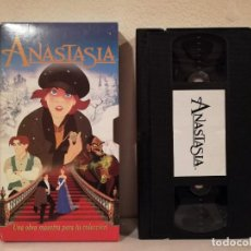 Cine: EDICION VHS CAJA CARTON - ANASTASIA - DIBUJOS ANIMADOS. Lote 160312922