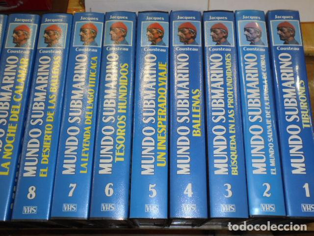 Cine: VHS MUNDO SUBMARINO COMPLETA 36 CINTAS - JACK COUSTEAU - Foto 2 - 160626906
