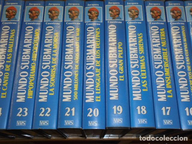 Cine: VHS MUNDO SUBMARINO COMPLETA 36 CINTAS - JACK COUSTEAU - Foto 4 - 160626906