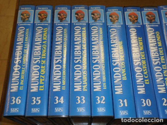 Cine: VHS MUNDO SUBMARINO COMPLETA 36 CINTAS - JACK COUSTEAU - Foto 6 - 160626906