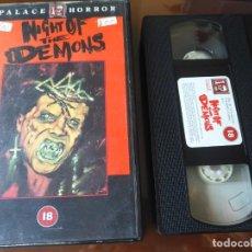 Cine: NIGHT OF THE DEMONS V.O VHS. Lote 160991862