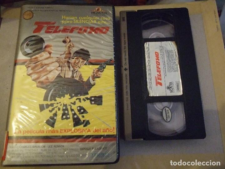 TELEFONO - DON SIEGEL - CHARLES BRONSON , LEE REMICK - VIDEOMAN 1984 (Cine - Películas - VHS)