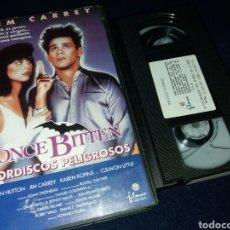 Cine: MORDISCOS PELIGROSOS- VHS- JIM CARREY- (2). Lote 161416945