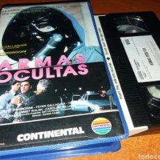 Cine: ARMAS OCULTAS- VHS- DIR: ROGER YOUNG- TV MOVIE 1990 DESCATALOGADA. Lote 161432720