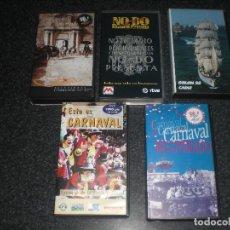 Cine: LOTE 5 VIDEOS VHS TEMÁTICA CÁDIZ, NODO, CARNAVAL, REGATA COLÓN.... Lote 161700406