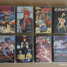 Cine: LOTE 8 VHS MANGA - GOKU, GREY, MAD BULL, RANMA, FATAL FURY, STREET FIGHTER II, GHOST IN THE SHELL.... Lote 161773914