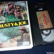 Cine: RUSTY & JOE- VHS- VITO BRUSCHINI- SPAGUETTI WESTERN- DESCATALOGADO. Lote 162349390