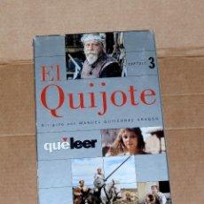 Cine: [VHS] SERIE EL QUIJOTE. RTVE. GUTIÉRREZ ARAGÓN. REVISTA 'QUÉ LEER' 4 CINTAS DE 5. INCOMPLETA!!. Lote 162411806
