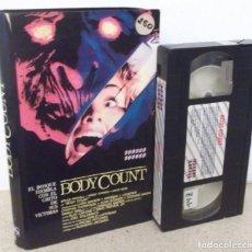 Cine: BODY COUNT VHS - SLASHER CLASICO DE 1987 EN SU PRIMERA EDICION Y DIRIGIDO POR RUGGERO DEODATO. Lote 162964094