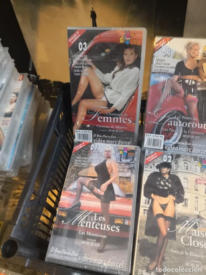 Cine: Coleccion 6 VHS EROTICA, PORNO POR VIDEO MARC DORCEL DOBLADAS AL CASTELLANO - Foto 2 - 162978814
