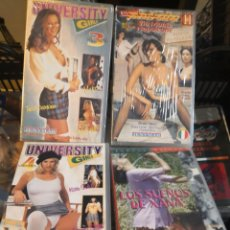 Cine: COLECCION 4 VHS CINTA PORNO ERÓTICA JENYMAR. Lote 162979998