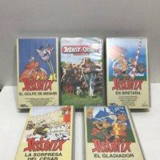 Cine: LOTE 5 VHS ASTERIX Y OBELIX. Lote 163217378