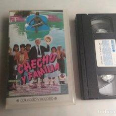 Cine: VHS CHECHU Y FAMILIA - FERNANDO FERNAN GOMEZ. Lote 163513014
