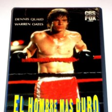 Cine: EL HOMBRE MAS DURO (1983) - RICHARD FLEISCHER DENNIS QUAID CARLENE WATKINS STAN SHAW VHS. Lote 163631766