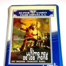 Cine: EL ULTIMO REY DE LOS INCAS (1965) - GEORG MARISCHKA GUY MADISON RIK BATTAGLIA VHS. Lote 163631862
