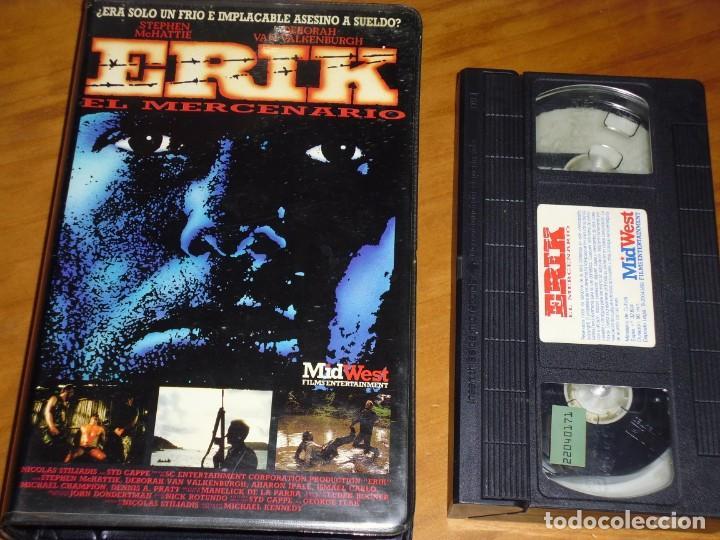 ERIK EL MERCENARIO . VHS - PEDIDO MINIMO 6 EUROS (Cine - Películas - VHS)