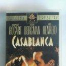 Cine: CASABLANCA REMASTERIZADA EDICIÓN ESPECIAL VHS. Lote 164636296